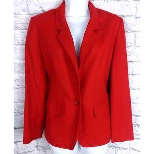 Vintage Red Pendleton Wool Jacket Blazer